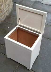Wooden White Laundry Box Toy Box Bathroom Storage Basket Linen Clothes Cabinet