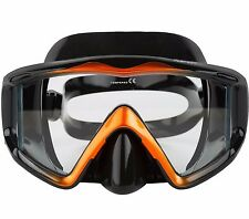 Adventure At Nature Apollo Wide Black Orange Dive Mask Scuba Diving Snorkeling