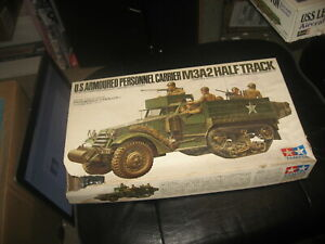 U.S. Armoured Personnel Carrier M3A2 Half Track by Tamiya in 1/35 scale