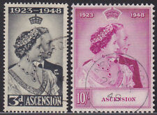 397) ASCENSION 1948 ROYAL SILVER WEDDING 1948 - USED SET - GEBRUIKT