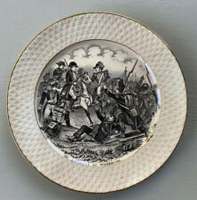 Vintage Battle of Waterloo Plate w/ Napoleon by Societe Ceramique Maestricht