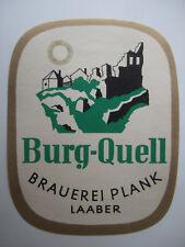 älteres Bieretikett - Gasthof Brauerei Plank, Laaber, Bayern, Germany,
