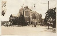 VINTAGE POSTCARD ST. ANTHONY CHURCH LONG BEACH CAL EARTHQUAKE MARCH 1933