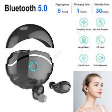 Bluetooth 5.0 Wireless Headphones Waterproof Earbuds Headset 50mAh+600mAh Type-C