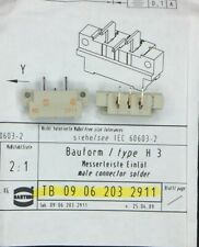 09062032911 HARTING CONN DIN HDR 3POS PCB 5 PIECES