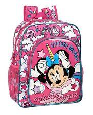 Disney MINNIE MOUSE Rucksack Pink School Rucksack Bag UNICORNS 38 cm OFFICIAL