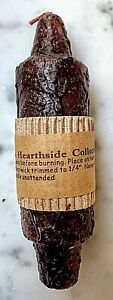 """Primitive/Country 5"""" Lantern Candle Burgundy Grubby Taper base Retired"""