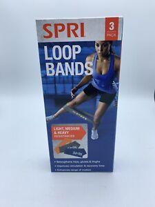 SPRI FLAT LOOP BAND KIT, light, medium and heavy resistance Bands Brand New