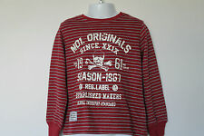 NEW Boys Long Sleeve Graphic Print Striped Top Age 4-5, 5-6, 8-9 Years *FREE P&P
