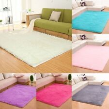 Fluffy Rugs Anti-Skid Shaggy Area Rug Room Bedroom Home Carpet Square Floor Mat