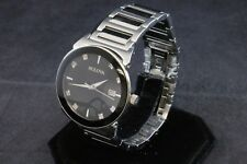 Bulova Diamond Accent Men's Watch Black Dial Stainless Steel 96D121
