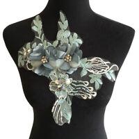 Spitze Stickerei Flower Applikation Aufnäher DIY Hochzeitskleid Nähen Patches