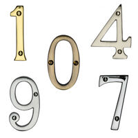 """Door Numerals / Numbers 0-9 - Various Finishes - 76mm (3"""")"""