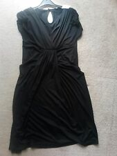 PRIMARK knee long dress, black, size 14, new with tags