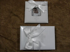 """Classic Keepsakes White puffy frame and album(holds 48- 4""""x6"""")photos) by mudpie"""