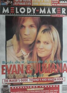 Melody Maker Music Magazine.November 13 1993.Evan Dando&Juliana Hatfield Cover.