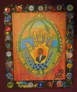 MUDDY WATERS MOJO HAND Giclee New Orleans Louisiana Folk Art Signed by DR BOB