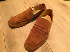 LEONARDO PRINCIPI mocassini classici scarpe cammello 7 mis. 41 scamosciati pelle