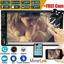 7 Inch Double 2 DIN Car MP5 Player Bluetooth Touch Screen Stereo Radio+Camera A+