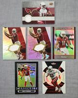 Larry Fitzgerald Arizona Cardinals UD GU Refractor Game Used Jersey (6) Card Lot