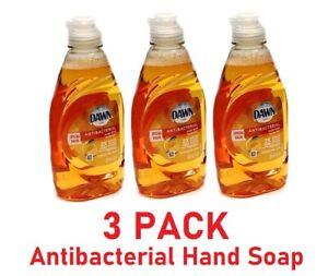 Dawn Ultra Orange Scent Hand Soap Dishwashing Kills Germs Liquid 7 OZ - 3 PACK