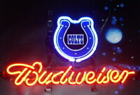 """New Indianapolis Colts Logo Neon Light Sign 14""""x10"""" Lamp Display Beer Glass Bar"""