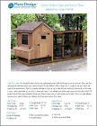Gable Chicken Coop with Lean-to Kennel Combo Project Plans, Design 50410GL
