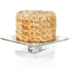 New Luigi Bormioli Michelangelo Ftd Cake Plate with Dome