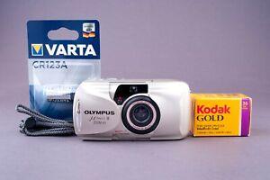Olympus Mju II Zoom 80 DLX 35mm Point & Shoot Film Camera