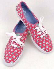 Womens Taylor Swift KEDS CHAMPION Pink Cats/Bows/Hearts Sneakers Shoes Size 9.5M