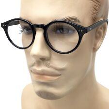 Large Oversized ROUND Clear Lens Fashion Glasses Fake Circle Frame Nerd Geek