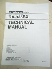Rotel Service/Technical Manual~RA-935BX Amplifier~Original