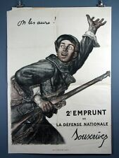Jules-Abel Faivre, On les aura!, Vintage 1916 WWI French Poster. We'll Get them!