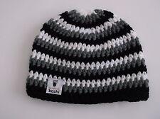 Beanie Mütze schwarz-weiß-grau