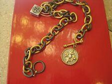 Belargo Medallion Station Toggle Necklace, NWT