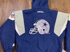 Vintage Dallas Cowboys Starter Jacket Small Hooded Nfl Football Spell Out Helmet