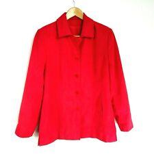 Kirsten Jacket Women's Red Size 12 Button Front