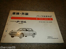 1978-1982 TOYOTA E-AL10Z 11Z 12Z 1983.4 JAPANESE JDM PARTS BOOK CATALOG DIAGRAM