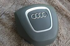 AUDI A3 A4 A6 A8 Q5 Q7 S4 RS4 4-SPOKE Driver WHEEL AIR BAG GRAY - BROWN COVER