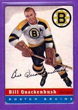 1954-55 TOPPS VINTAGE HOCKEY CARD#49 BILL QUACKENBUSH (BOSTON BRUINS)   (HOF)