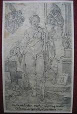 Grabado de h. Aldegrever: la virtud castidad 1552/engraving virtue castidad