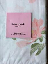 Kate Spade Floral Tablecloth Breezy Magnolia Cotton Spring  NEW 60 x 84