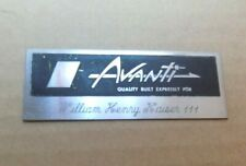 New ListingFactory Dash Plaque Studebaker Avanti R2 William Henry Kaiser 63 1963