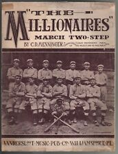The Millionaires March 1908 Large Format Sheet Music