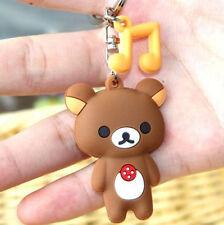 San-X Rilakkuma Relax Bear Silicon Keyring Key Chain Wallet Key Chain