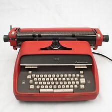 IBM Model C Executive Vintage Red Typewriter *WORKING*