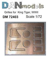 Grilles for King Tiger Sd.Kfz.182  1/72 DAN models # 72403 NEW!