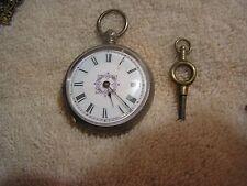 Antique Silver Pocket Watch Lion Hallmark Key Wind