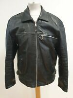 N941 MENS ASHY BLACK CASUAL LEATHER STYLISH JACKET/COAT UK S EU 46