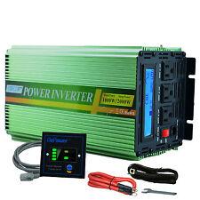Power Inverter 1000W 2000W Pure Sine Wave 12V dc 110V 120V ac LCD Display CAR RV